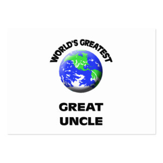 World's Greatest Great Uncle Large Business Cards (Pack Of 100)