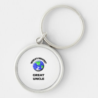 World's Greatest Great Uncle Silver-Colored Round Keychain