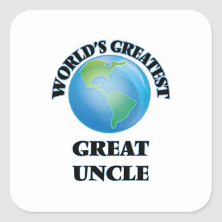 World's Greatest Great Uncle Square Sticker