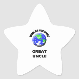 World's Greatest Great Uncle Star Sticker