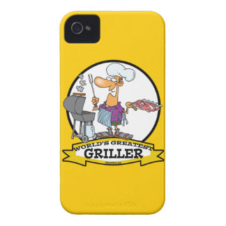 WORLDS GREATEST GRILLER MEN CARTOON Case-Mate iPhone 4 CASES