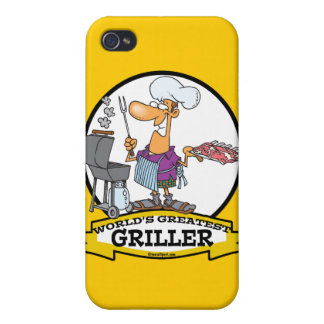 WORLDS GREATEST GRILLER MEN CARTOON iPhone 4/4S COVER