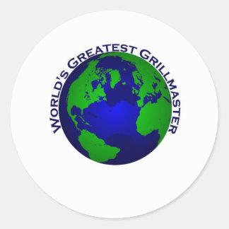 World's Greatest Grillmaster Classic Round Sticker