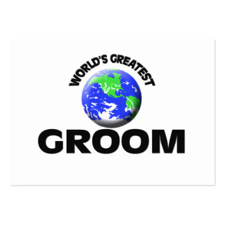 World's Greatest Groom Large Business Cards (Pack Of 100)