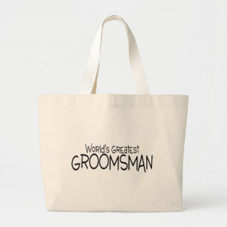 Worlds Greatest Groomsman Large Tote Bag