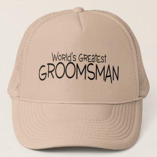 Worlds Greatest Groomsman Wedding Trucker Hat