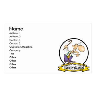 WORLDS GREATEST GRUMPY GRAMPS CARTOON BUSINESS CARDS