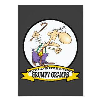 WORLDS GREATEST GRUMPY GRAMPS CARTOON CUSTOM INVITE