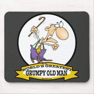 WORLDS GREATEST GRUMPY OLD MAN CARTOON MOUSE PAD