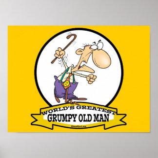 WORLDS GREATEST GRUMPY OLD MAN CARTOON POSTER