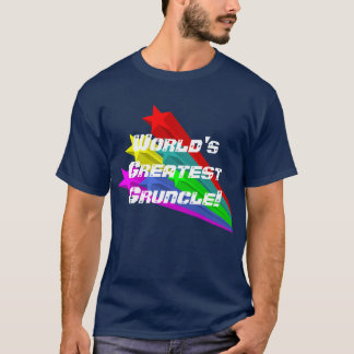"""World's Greatest Gruncle"" With Shooting Stars T-Shirt"