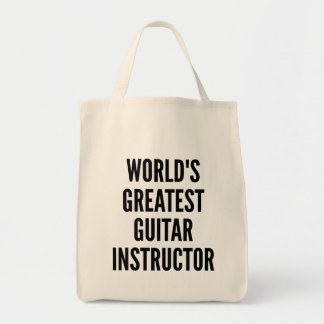 Worlds Greatest Guitar Instructor Tote Bag
