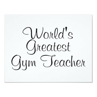 Worlds Greatest Gym Teacher Card