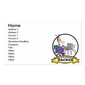 WORLDS GREATEST HACKER CARTOON BUSINESS CARD