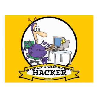 WORLDS GREATEST HACKER CARTOON POST CARD