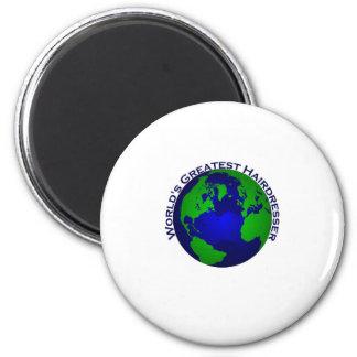 World's Greatest Hair Dresser 2 Inch Round Magnet