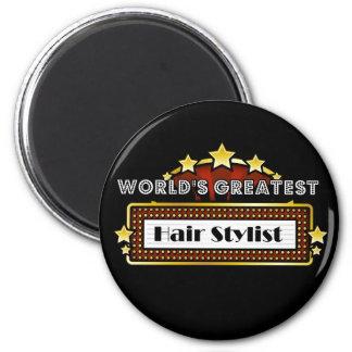 World's Greatest Hair Stylist 2 Inch Round Magnet