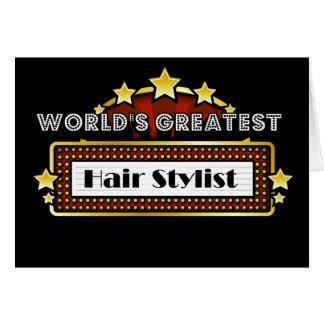World's Greatest Hair Stylist Card
