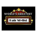World's Greatest Hair Stylist Greeting Card