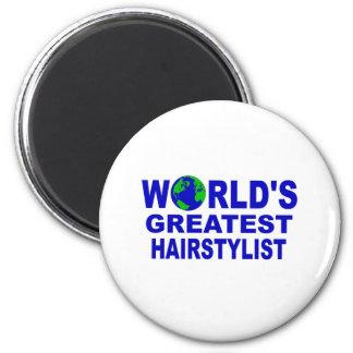 World's Greatest Hairstylist 2 Inch Round Magnet