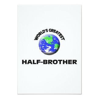World's Greatest Half-Brother 5x7 Paper Invitation Card