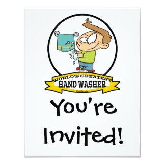 WORLDS GREATEST HAND WASHER KIDS CARTOON CARD