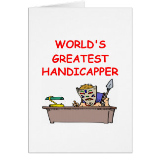 world's greatest handicapper card