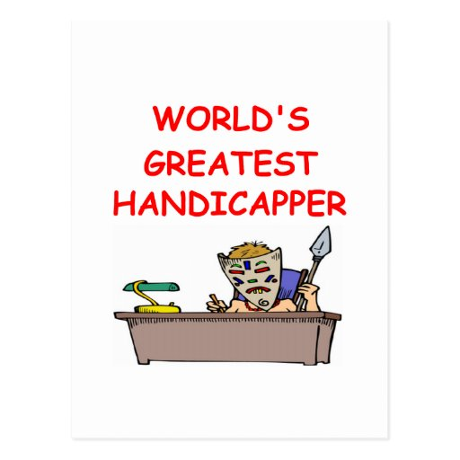world's greatest handicapper postcard