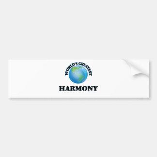 World's Greatest Harmony Bumper Stickers