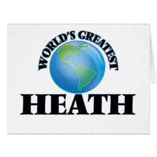 World's Greatest Heath Large Greeting Card