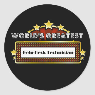 World's Greatest Help Desk Technician Classic Round Sticker