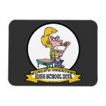 WORLDS GREATEST HIGH SCHOOL DIVA GIRL CARTOON VINYL MAGNETS