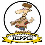 WORLDS GREATEST HIPPIE MEN CARTOON ACRYLIC CUT OUTS