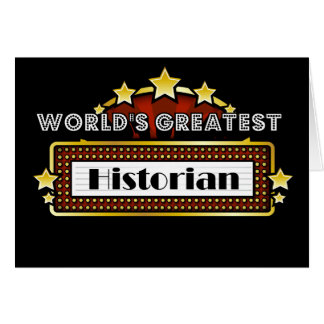 World's Greatest Historian Card