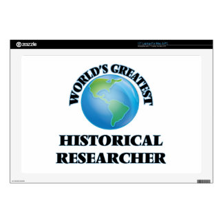 World's Greatest Historical Researcher Decals For Laptops