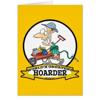 WORLDS GREATEST HOARDER MEN CARTOON CARD