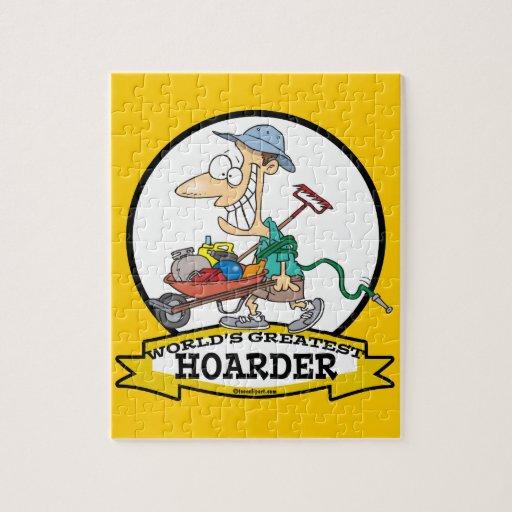 WORLDS GREATEST HOARDER MEN CARTOON JIGSAW PUZZLE