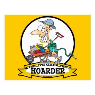 WORLDS GREATEST HOARDER MEN CARTOON POSTCARD