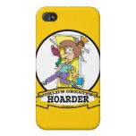 WORLDS GREATEST HOARDER WOMEN CARTOON CASE FOR iPhone 4