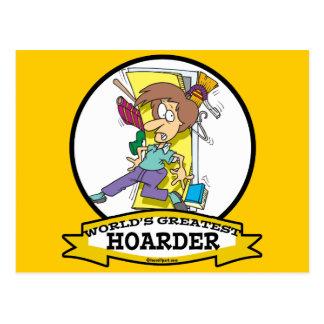 WORLDS GREATEST HOARDER WOMEN CARTOON POSTCARD