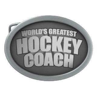 Worlds Greatest Hockey Coach Belt Buckle