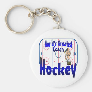 World's Greatest Hockey Coach Keychain