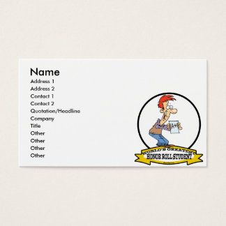 WORLDS GREATEST HONOR ROLL STUDENT CARTOON BUSINESS CARD
