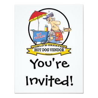 WORLDS GREATEST HOT DOG VENDOR MEN CARTOON CARD
