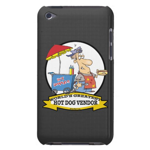 WORLDS GREATEST HOT DOG VENDOR MEN CARTOON BARELY THERE iPod CASES