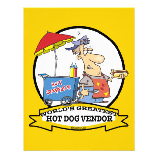 WORLDS GREATEST HOT DOG VENDOR MEN CARTOON FLYER