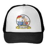 WORLDS GREATEST HOT DOG VENDOR MEN CARTOON TRUCKER HAT