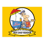 WORLDS GREATEST HOT DOG VENDOR MEN CARTOON POSTCARD