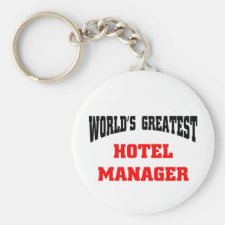 World's greatest hotel manager keychain