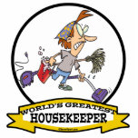 WORLDS GREATEST HOUSEKEEPER WOMEN CARTOON ACRYLIC CUT OUT